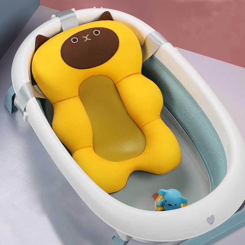 아기 목욕 쿠션 휴대용 신생아 목욕 안티-슬립 쿠션 좌석 유아 부동 목욕탕 욕조 패드 샤워 지원 매트 보안
