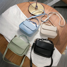 Женские сумки, новинка для женщин, однотонные маленькие сумки через плечо из искусственной кожи, дизайнерские женские дорожные сумки на цеп...