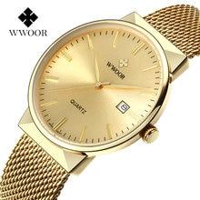 Золотые часы для мужчин wwoor Лидирующий бренд известные мужские