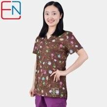 Brand scrub scrub tops for women scrub scrubs,scrub uniform in 100% print cotton Chengse maotouying
