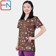 Marca esfrega esfrega topos para as mulheres esfrega esfrega, esfrega uniforme em 100% algodão chengse maotouying