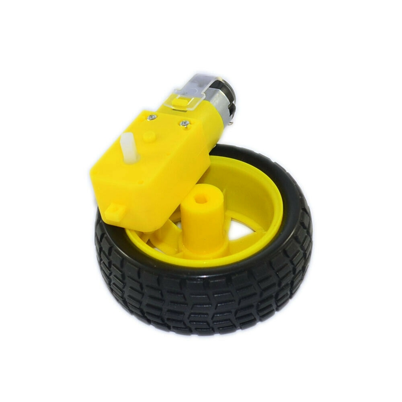 Closeout DealsÁTire-Wheel-Kit Robot Anti-Interference Arduino Smart-Car for DIY Durable 3v-6v-Gear Motor=
