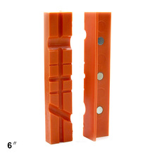 2PCS Vise Protectors Tools Vice Jaw Pads Durable Multifunctional Covers Multi Grooved Reversible Magnetic Home Tool Universal