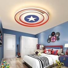 Lamp Fixtures Ceiling-Light Girls Captain-America White Princess Children Nursery-Lighting