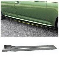 Carbon Fiber Side Skirt Lip Spoiler For Audi A3 S3 RS3 A4 S4 RS4 A5 S5 RS5 B8 B8.5 B9 A6 S6 RS6 C7 C7.5 C8 A7 S7 RS7 A8 S8 RS8