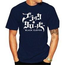 2021 lazer moda 100% algodão o-pescoço camiseta preta do trevo do logotipo do trevo