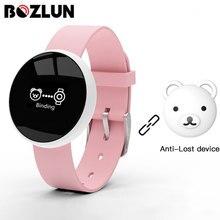 Reloj inteligente Bozlun para mujer, para iPhone, Android, teléfono con monitor de sueño, Fitness, cámara remota impermeable, GPS, pantalla de activación automática