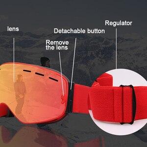 Image 5 - PHMAX Gafas de esquí de invierno con máscara de esquí, gafas de Snowboard, gafas de esquí de doble capa, protección UV400, gafas para nieve esquí antiniebla