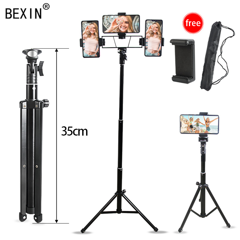 Phone Tripod Mobile Phone Illuminated Mount Lightweight Smartphone Tripod Selfie Stick Support Photo For IPhone Android Phone