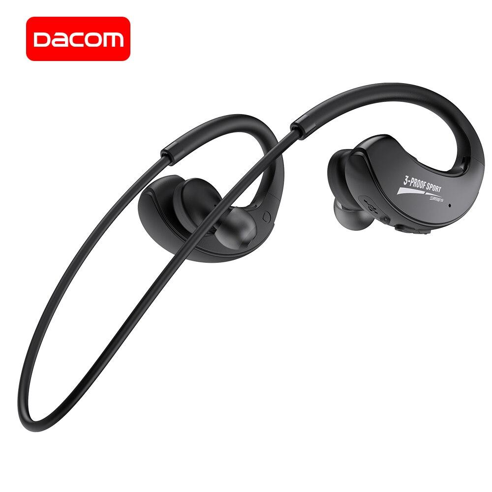 DACOM G34 спортивные Bluetooth наушники IPX5 водонепроницаемые беспроводные наушники стерео наушники для бега для Samsung iPhone Huawei