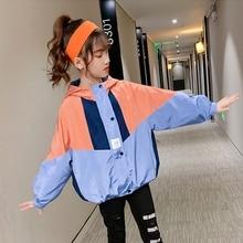 Jackets Cardigan Trench-Coat Outerwear Windbreaker Teenage-Girl Children's Fashion Autumn