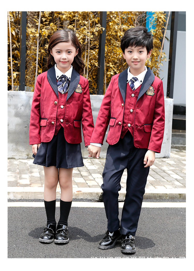 Kindergarten Suit Autumn And Winter Set Korean-style College Style Young STUDENT'S School Uniform Business Attire British-Style