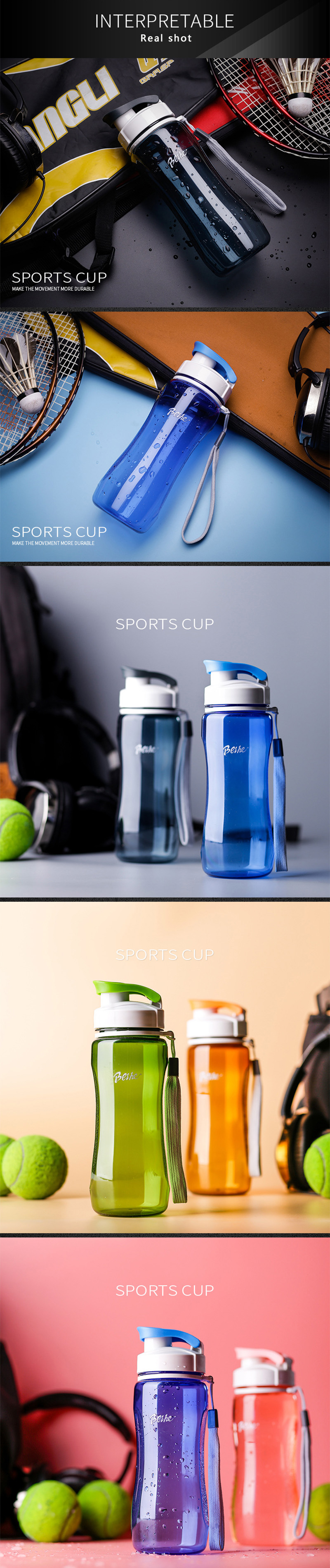 H240bc81936e54e619138d3b74cff528aK Kettle 720ML plastic water dispenser student outdoor sports school portable space cup leak-proof cup drinking water bottle