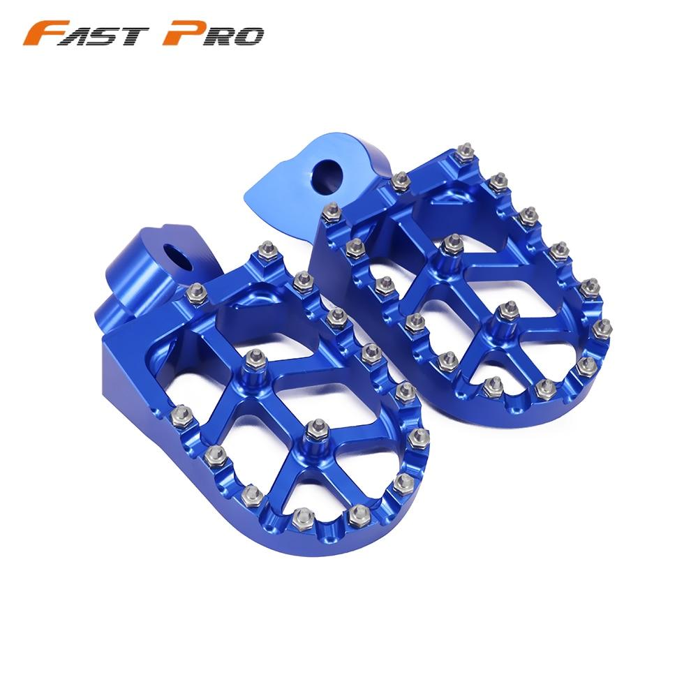 Billet CNC Foot Pegs Rests Pedals For Husqvarna 50 125 250 300 350 400 450 510 CR SM SMR TC TE WR TXC 1999-2013 OFF ROAD