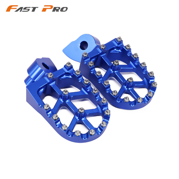 Billet CNC Foot Pegs Rests Pedals For Husqvarna 50 125 250 300 350 400 450 510 CR SM SMR TC TE WR TXC 1999-2013 OFF ROAD - discount item  20% OFF Motorcycle Parts
