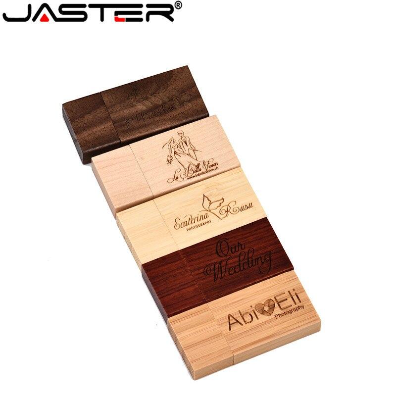 JASTER Rose Wood Maple Wood Personalized LOGO Usb Flash Drive Usb 2.0 4GB 8GB 16GB 32GB 64GB Photography Gift Walunt Wood