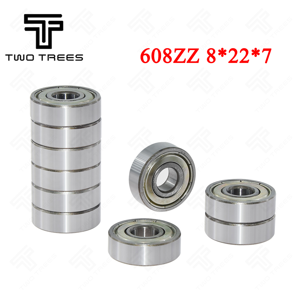 10Pcs a lot Double Shielded Miniature 8*22*7 High-carbon Steel Single Row 608ZZ Deep Groove Ball Bearing 8*22*7 8x22x7 MM 608 ZZ image