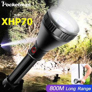 Super brilhante xhp70 lanterna poderosa luz copo led tocha usb recarregável lanterna à prova dwaterproof água 26650 bateria