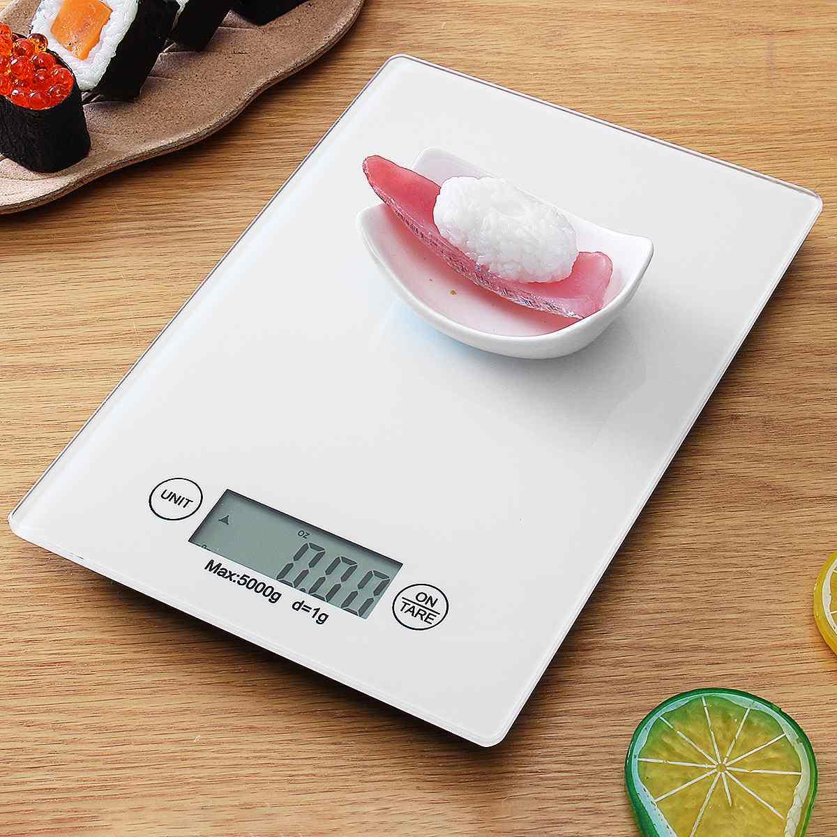 5 كجم/1g الخبز الترجيح مقياس LCD الرقمية المطبخ الجداول الإلكترونية الوزن مقياس الغذاء المنزلية أداة قياس-في موازين المطبخ من المنزل والحديقة على title=