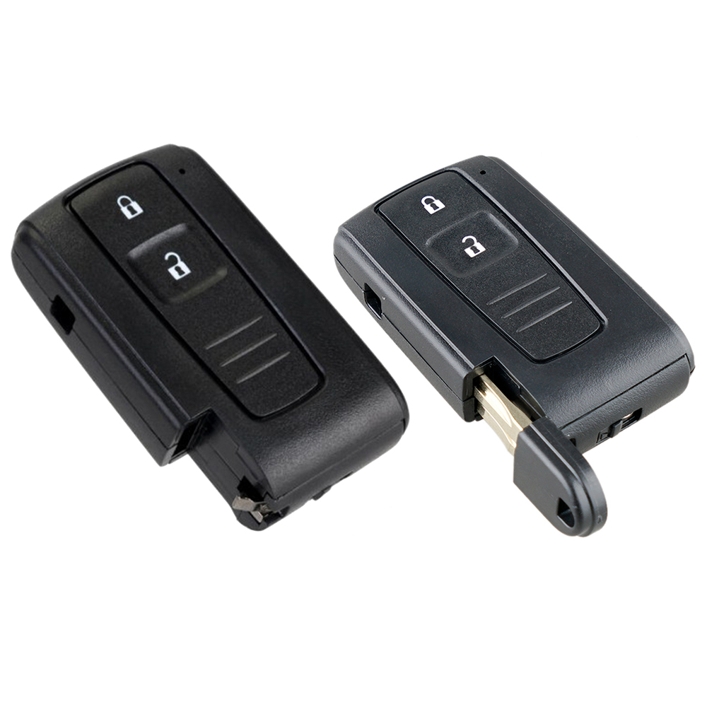2 Button Remote Car Key Shell Case for Toyota <font><b>Prius</b></font> 2004 <font><b>2005</b></font> 2006 2007 2008 2009 Corolla Verso Camry with/without Uncut Blade N image