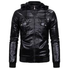 Mens Hooded Sheepskin Leather Jackets Coats XXXL Plus Size M