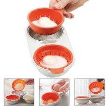 Ovo vapor para forno de microondas perfeito ovo cozido divisor gema molde dupla camada ovo fogão cozinhar cozinha ferramentas # p40