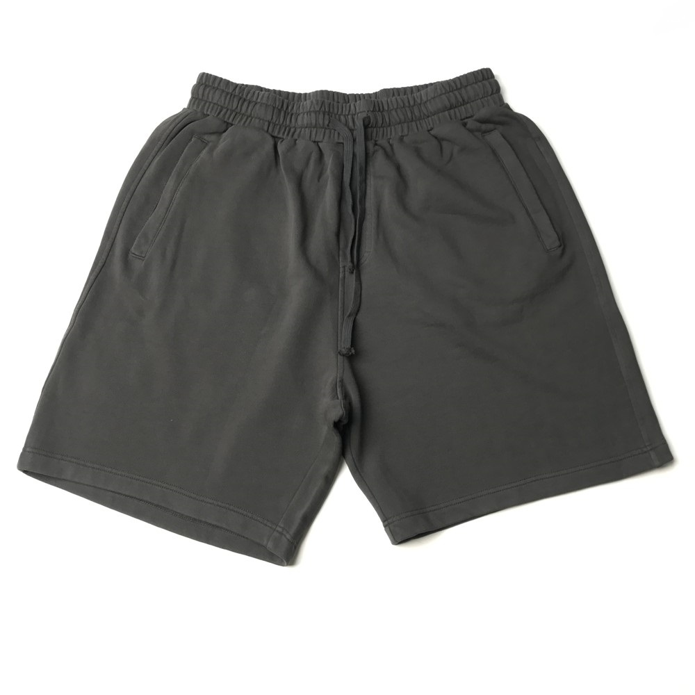 Hip Hop Kanye Washed Cotton Sweat Shorts Summer Drawstring Distressed Jogger Four-pocket Styling