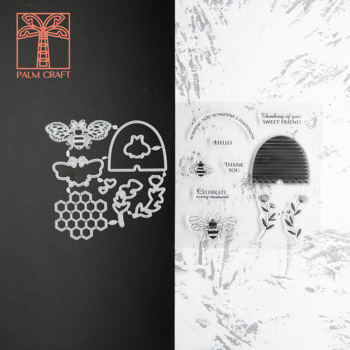 Honey bee stamps and dies set 2020 clear stamp Scrapbooking & Stamping DIY album rubber metal cutting dies embossing gift card узорова ольга васильевна нефедова елена алексеевна 3000 примеров по русскому языку 3 класс