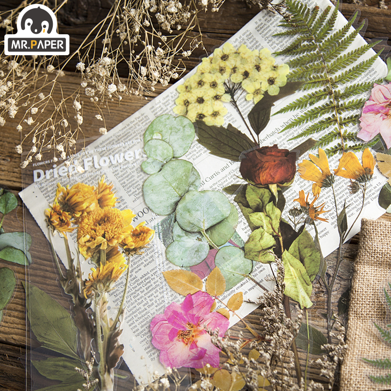 Mr.paper 8 Designs 6Pcs Weekend Flowers Deco Stickers Scrapbooking Styling Bullet Journal Toy Deco Album DIY Stationery Stickers 2