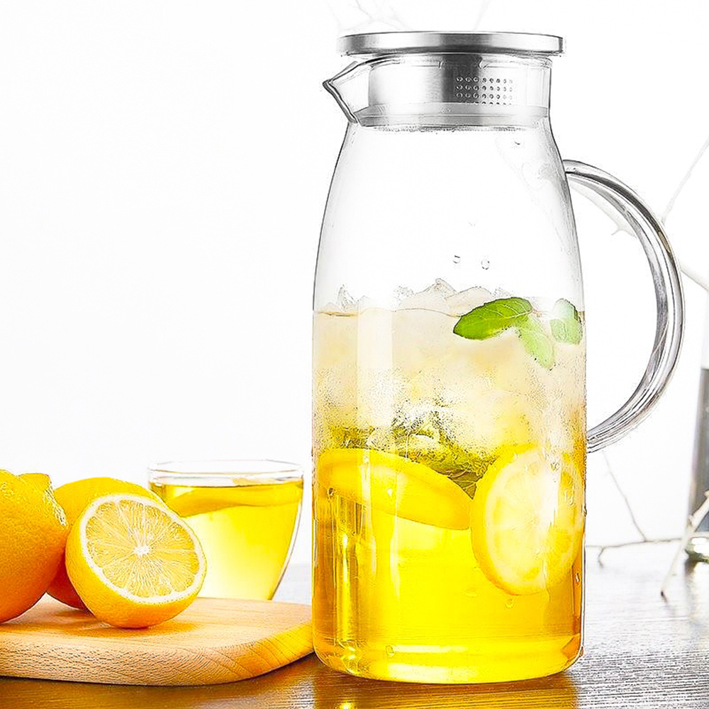 Kitchen supplies 1300/1500/2000ml Transparent Glass Pitcher Hot/Cold Water Jug Kettle Juice Container Bottle кувшин|Pitchers| |  - title=