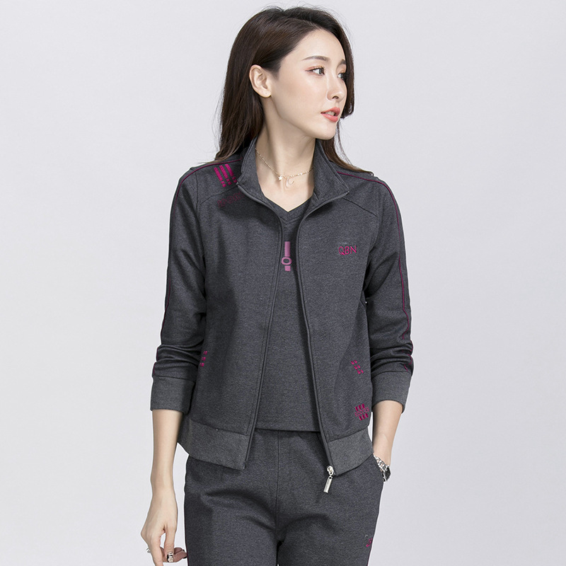 Middle-aged Sports Clothing Set WOMEN'S Dress 2018 New Style Mom Spring And Autumn Coat 40-Year-Old 50 Middle-aged Leisure Suit