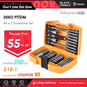 DEKO 46 in 1 Screwdriver Set Phillips/Slotted Bits With Magnetic Multi Tool Home Appliances Repair Hand Tools Kit