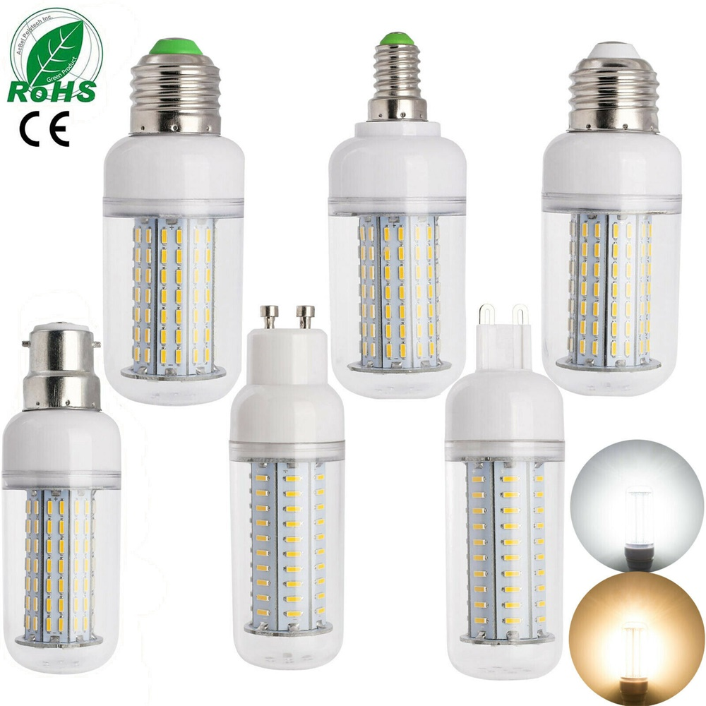Dimmable LED Bulb E27 E14 Corn Bulb 14W 18W 25W SMD 4014 220V 110v LED Lamp Chandelier Candle LED Light For Home Decoration Lamp
