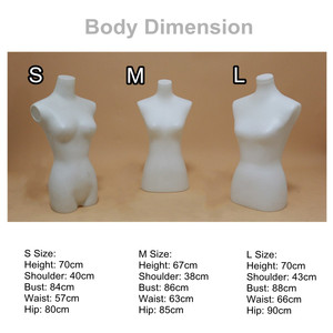 S/M/L Well-crafted PP Plastic Dress Cloth Mannequin Demountable Support Female Mannequin Model Stand for Tailor Garment Display