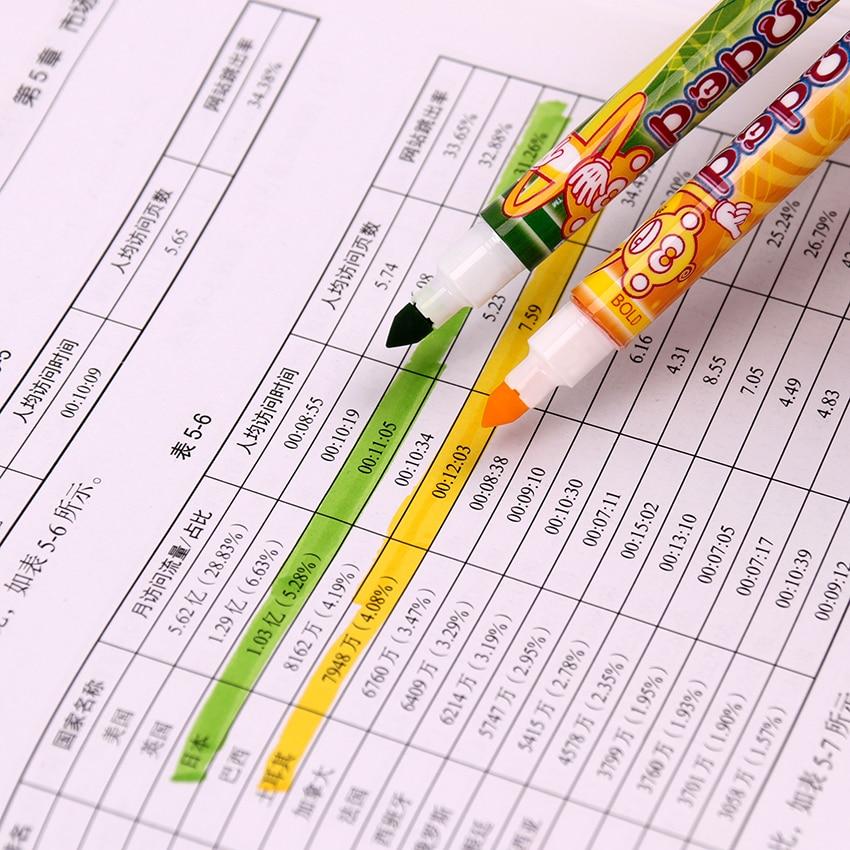 10PCS Two Head Watercolor Pen Children Drawing Colored Manga Sketching Gift Pen School Kid Can Be Washing Comic Pen