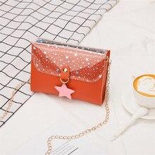 купить Women's Transparent Bag 2019 New Fashion Handbag Star Print Crossbody Small Square Bag Chain Shoulder Messenger Bags онлайн