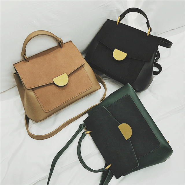 Burminsa Winter Suede Women Messenger Bags Small Soft PU Leather Handbags Retro High Quality Young Ladies Shoulder Bags 2019 3