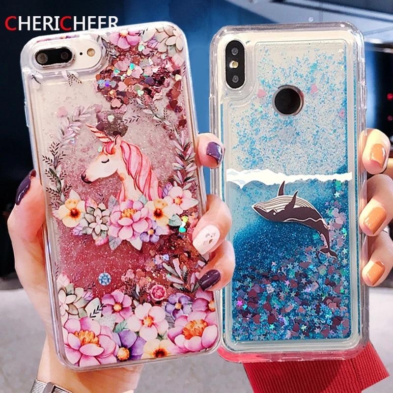 Coque de téléphone portable Dolphin Liquid, avec paillettes et sable mouvant, pour Huawei P8 Lite 2017 P10 P9 Lite 2017 P40 P20 P30 Pro