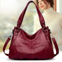 Женская сумка высококачественная кожанная новинка 2020 черная модная сумка натуральная кожа через плечо для женщин Pommax большая сумка для жен...
