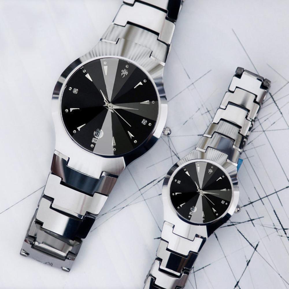2020 Men Watch Women Quartz Black White Watch All Match Stainless Steel Ladies Watch Couple's Watches Relogio Masculino