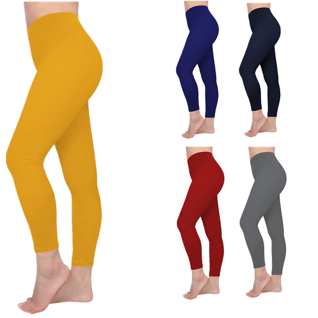 Seamless Solid Color Leggings
