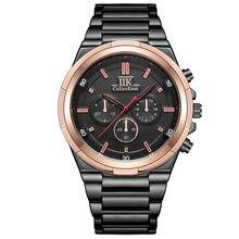 Reloj masculino resistente al agua, correa de acero inoxidable de negocios, de cuarzo, tendencia, 2021