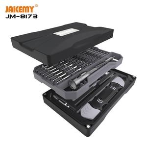 Image 1 - JAKEMY nowy JM 8173 oryginalny wkrętak precyzyjny zestaw narzędzi do napraw z magnetycznymi końcówkami do tabletu telefonicznego elektroniczna naprawa DIY
