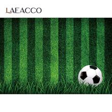 Soccer Football Backgrounds For Photography Green Grass Stadium Goal Baby Child Photozone Birthday Party Portrait Photo Backdrop
