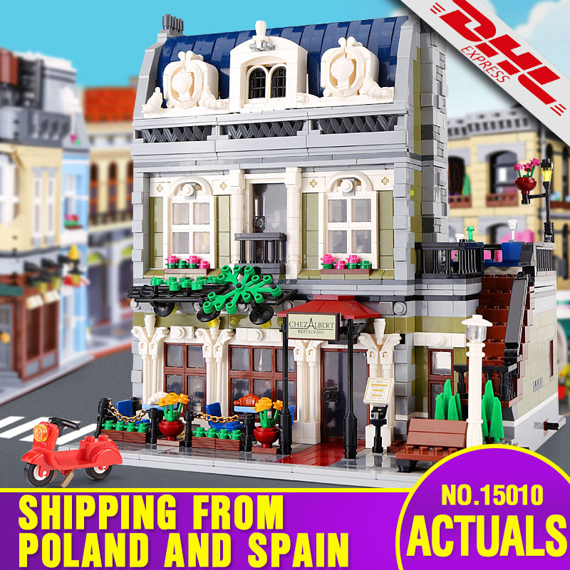 15010 Expert City Street Building Compatible With Legoing 10243 Parisian Restaurant Building Blocks Kids Toys Christmas Gifts