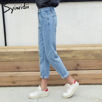 Cotton high waist jeans blue plus size boyfriend jeans for women Harem Pants 5xl street style korean fashion 2020 new 2