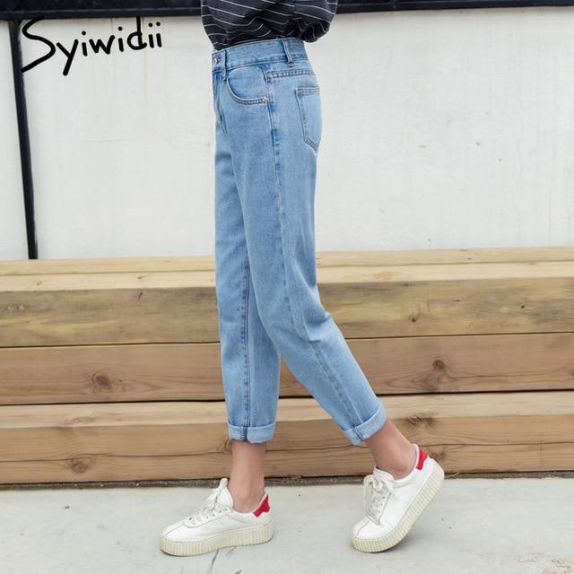 Cotton high waist jeans blue plus size boyfriend jeans for women Harem Pants 5xl street style korean fashion 2020 new 2