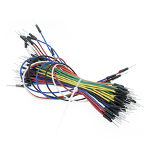 1300 pièces = 20 ensembles de câble de saut mâle à mâle fil de cavalier pour platine de prototypage 65 fil de saut