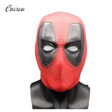 Deadpool maska Cosplay Movie maska Halloween pełna głowa twarz lateksowa Cosplay kostium rekwizyty maski imprezowe dla dorosłych tanie tanio COSREA Film i TELEWIZJA Akcesoria Unisex Other Cosrea-38