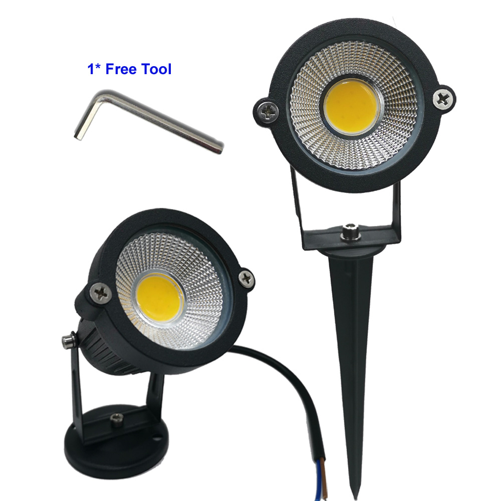 9W 7W 5W 3W Led Garden LED Lamp 110 V 220V COB Outdoor Landscape spotlight with Spike Base IP65 Garden Yard Pathway Lawn Light